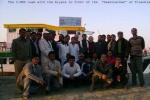 "The Team with the Aiyars near the ""Swaminathan"" at Tinsukia."