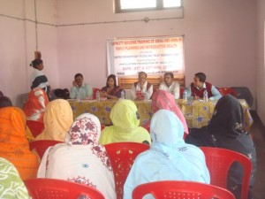 At the training on capacity building for Ashas and ANMs