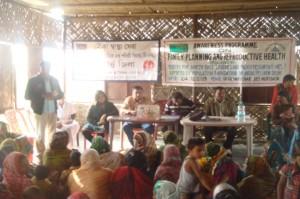 The family planning awareness session at Morigaon's Chitolmari Char