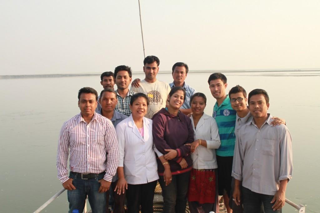 The Jorhat team with Ratnadeep