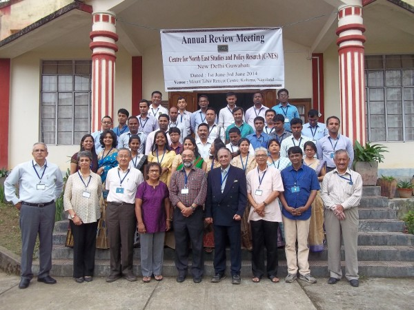 A group photograph at the Review Meet with Trustees