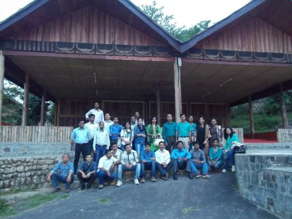 The team at the Kisama Heritage village near Kohima