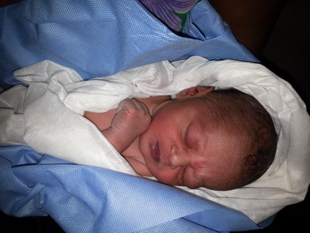 The new born infant at Dhemaji's Sengajan Guwala village