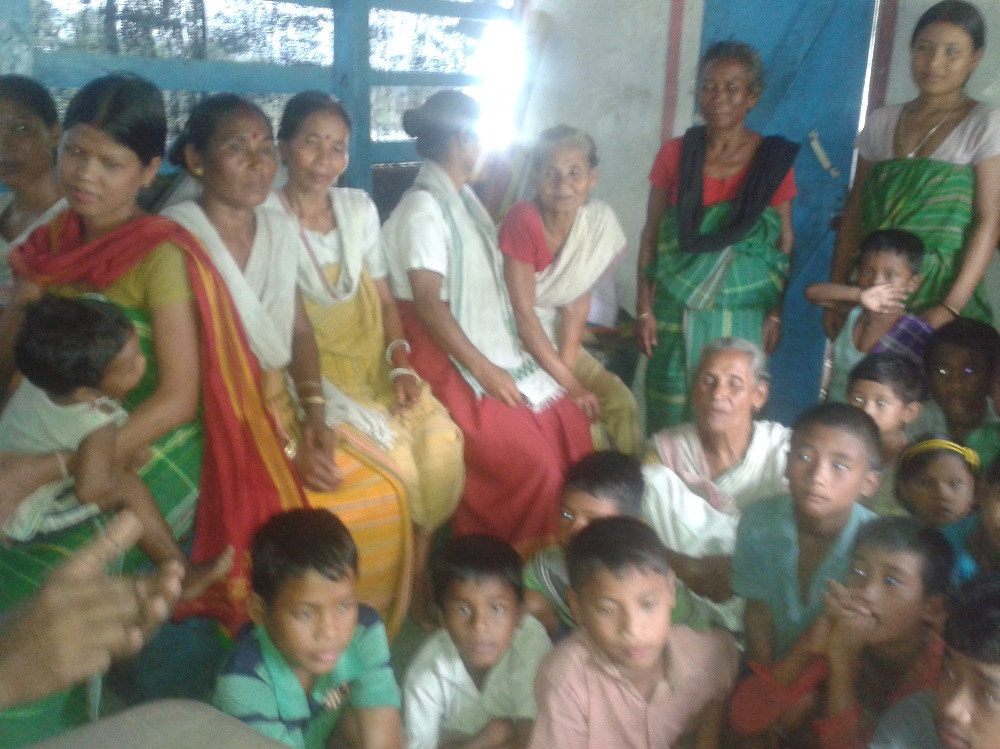 Participants at the awareness meeting on nutrition at Sirangshree village, Dhemaji