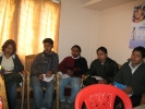 From left: DPOs  Sonitpur and Tinsukia and new staff from different districts ( District Family Planning Counselors Jogananda Dutta for Dibrugarh,Ridip Bordoloi for Sonitpur and Ritiz Gogoi for Tinsukia) at  a discussion with Managing Trustee and senior staff in Dibrugarh office, Nov 2009