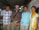 Sanjoy Hazarika, Managing Trustee, C-NES (Project Director), to his left is Mirza Zulfiqur Rahman (Sr. Researcher, Assam) with community members at Sibsagar district ,Assam.