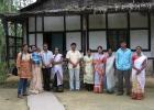 Riturekha Baruah,Jr. Researcher ,Assam (extreme left) with community members at Sibsagar
