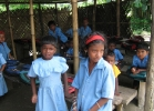 The make shift school   for children displaced from their homes due to conflict and vilence at Kakrajhar district Assam