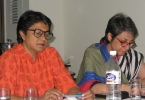 Dr. Suman Sahai (left)and Ms Preeti Gill, AC members at the  meeting