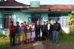 The Tinsukia Boat Clinic team with C-NES Trustee Mr Chaman Lal (centre in black pullover)at the organization\'s Office in Tinsukia.
