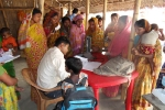 A health camp at Barpeta\'s Muwamari char- women undergoing health and ante natal check up.