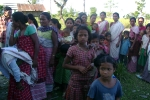 Women and children at Tinsukia\'s Laika Pomua L P School, waiting for the awareness and handwashing day to be observed at the sapori school as part of the C-NES- Unicef  initiative .