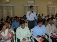 Students from Dibrugarh University taking  an active part in the workshops