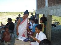 Health camp in progress at  Laika Sapori in Tinsukia