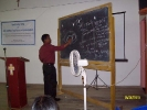 Dr BC Bora , Medical Officer , Dibrugarh Boat Clinic training ASHAs and ANMs at Dibrugah as part of the PFI project