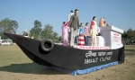 The award winning model at Lakhimpur, highlighting the need for family planning and institutional delivery, displayed at the parade ground.