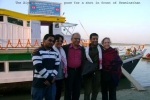 The Aiyars, (from left)- Rustam, Shahnaz, Swaminathan, Shekhar and Fransesca pose for a shot in front of the SB Swaminathan at Tinsukia, on 28 Dec, 2008.