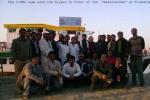 "The Team with the Aiyars near the ""Swaminathan"" at Tinsukia."