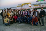 "A happy C-NES team poses with the Aiyars and Mr Hazarika with the SB ""Shahnaz"" at the background at Dib on 27Dec, 2007."