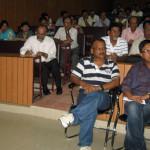 The audience at Jorhat's JB College auditorium