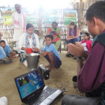 Demonstration of hand washing at Balichapori School