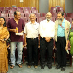 A group photograph post screening