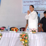 The Chief Minister Assam Mr Tarun Gogoi at the dedication ceremony
