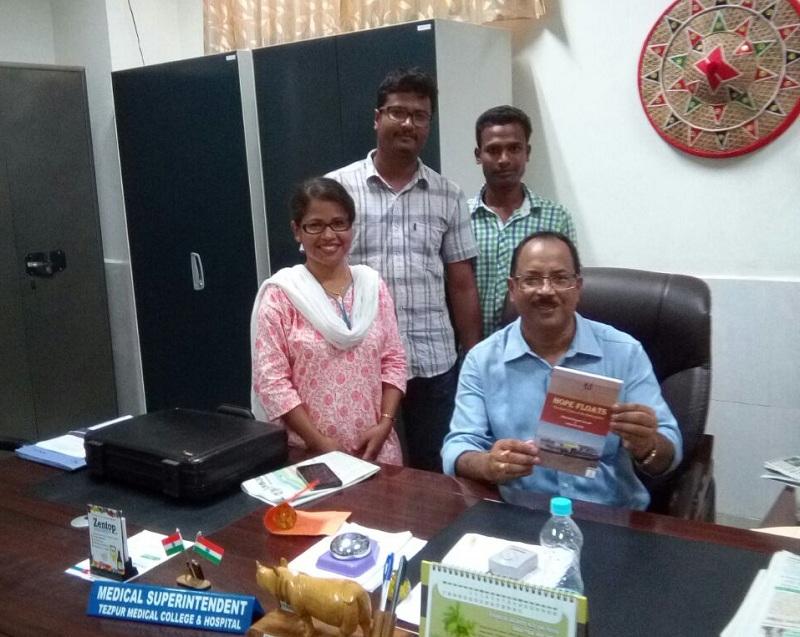 Mousumi Dowerah with Dr. R.C. Deka